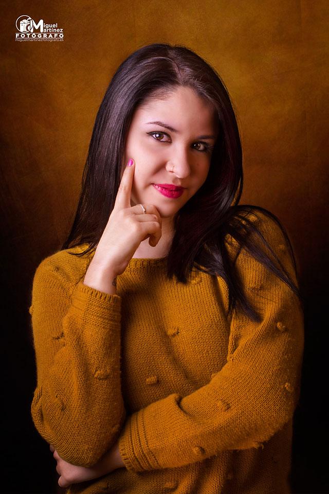 Sesion Fotos Retrato Estudio Con Noelia Miguel Martinez Fotógrafo